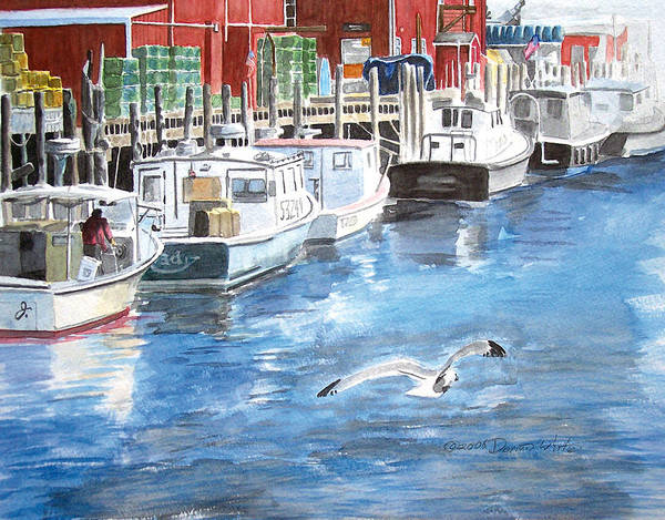 Painting - Union Wharf by Dominic White