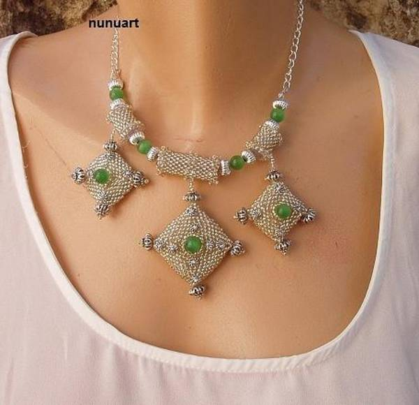 Wall Art - Jewelry - Unique And Beautiful Necklace  by Nurit Tzubery