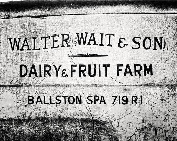 Ballston Spa Photograph - Unique Black And White Kitchen Art by Lisa Russo