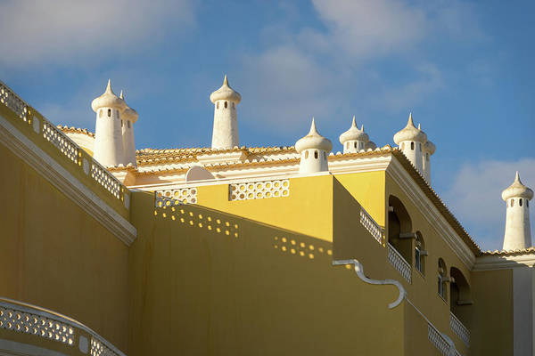 Photograph - Unique Chimneys - Quirky House In Cyber Yellow And White by Georgia Mizuleva