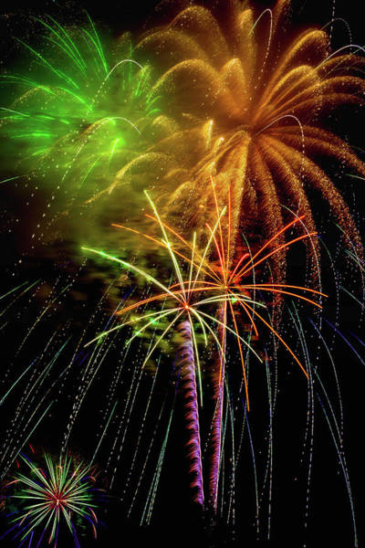 Dazzle Wall Art - Photograph - Unique Fireworks by Garry Gay