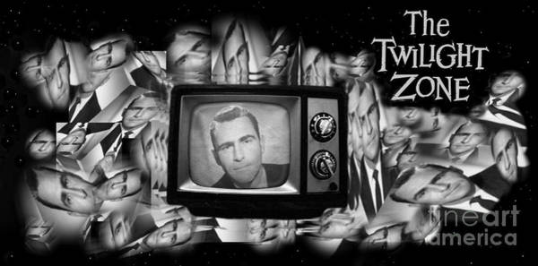 Wall Art - Painting - Unique Twilight  Zone In Black And White  by John Malone