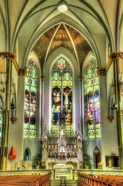 Asps Photograph - Unitarian Church Charleston South Carolina Sancuary Alter by Douglas Barnett