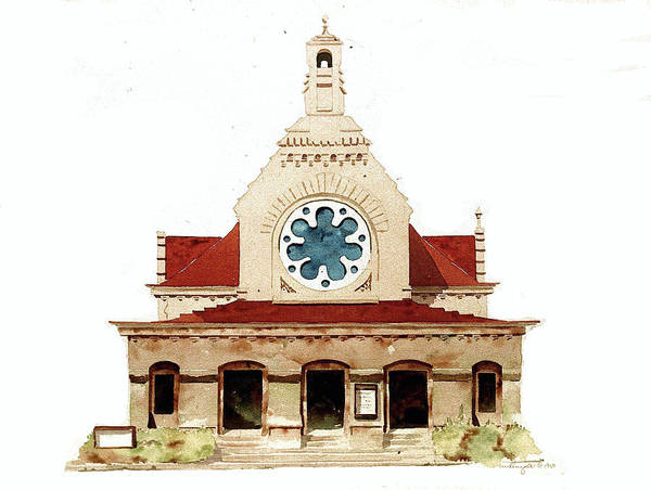 Painting - Unitarian Church - F.furness by William Renzulli