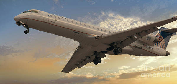 Photograph - United 522 On Final Approach by Dale Powell
