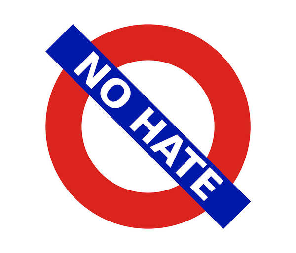 Digital Art - United Britain - No Hate by Richard Reeve