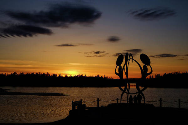 Photograph - United In Celebration Sculpture At Sunset 6 by John McArthur