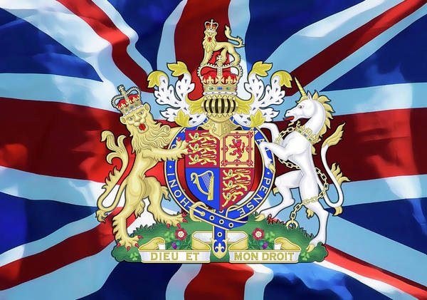 Wall Art - Digital Art - United Kingdom Coat Of Arms by Daniel Hagerman