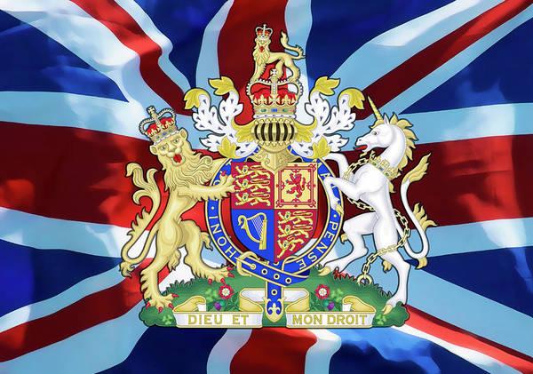 Wall Art - Digital Art - United Kingdom Coat Of Arms by Daniel Hagerman