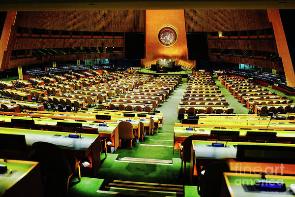 Photograph - United Nations General Assembly by M G Whittingham