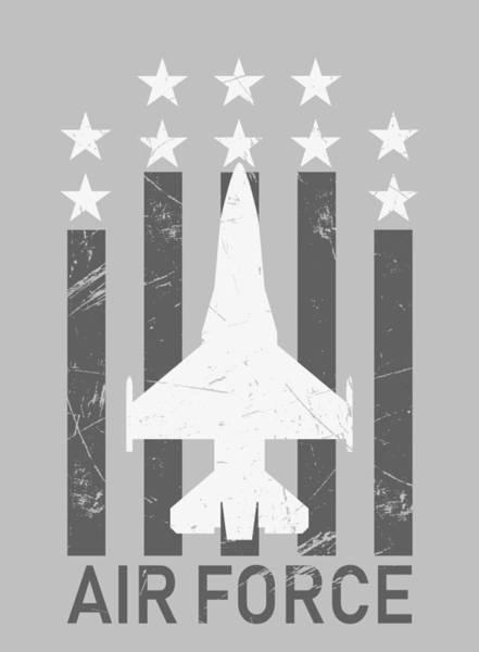 Nuclear Bomber Wall Art - Mixed Media - United States Air Force 1 by Joe Hamilton