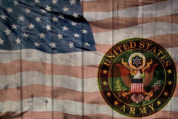 Wall Art - Mixed Media - United States Army Logo Barn Door by Dan Sproul