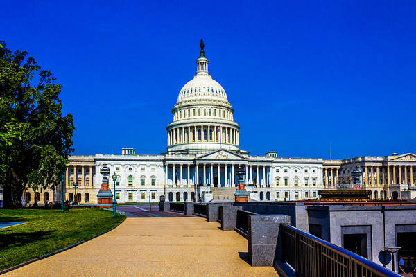 Photograph - United States Capitol Building by TL  Mair