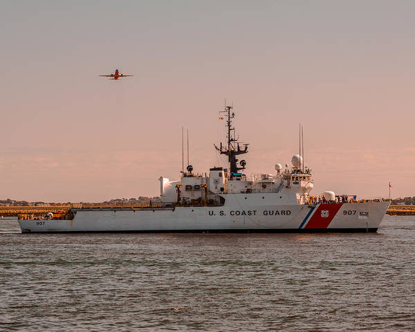 Photograph - United States Coast Guard Cutter Escanaba Wmec-907 by Brian MacLean