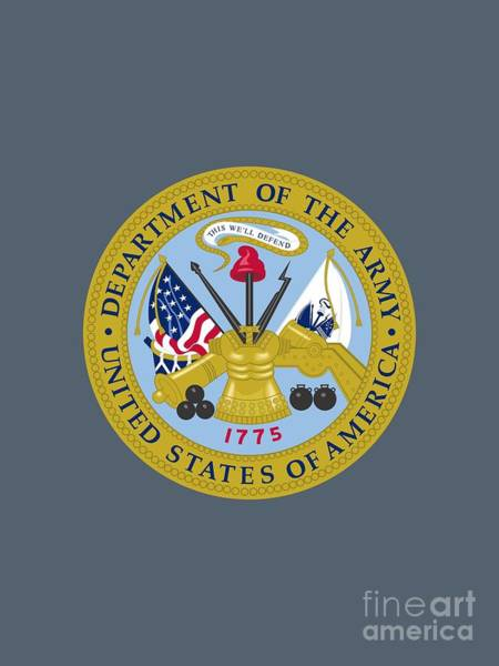 Department Of The Army Wall Art - Painting - United States Department Of The Army by Pg Reproductions