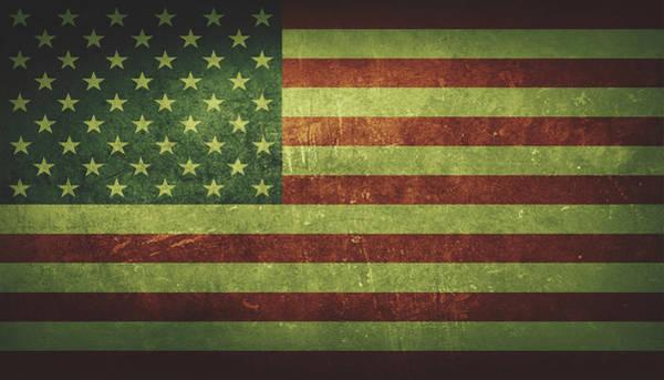 Painting - United States Distressed Flag Dehner by David Dehner