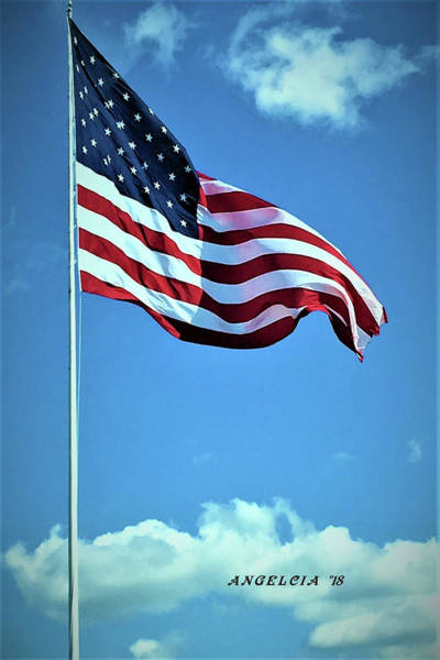 Photograph - United States Flag by Angelcia Wright