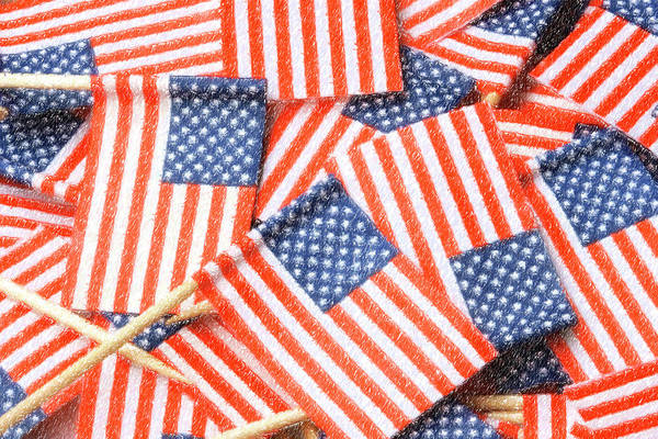 Photograph - United States Flag Color Pencil by Jill Lang