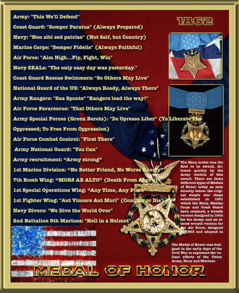Photograph - United States Medal Of Honor by Carlos Diaz