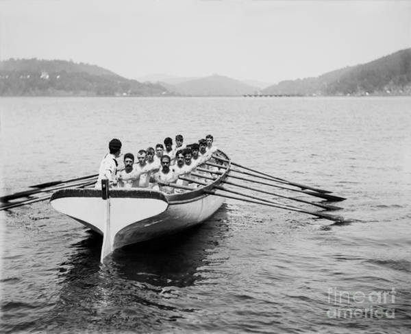 Rowing Wall Art - Photograph -  United States Navy Rowing Team Ca 1890 by Jon Neidert