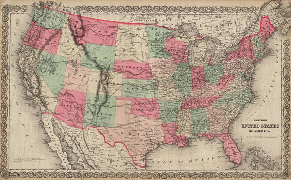 Wall Art - Painting - United States Of America by Colton