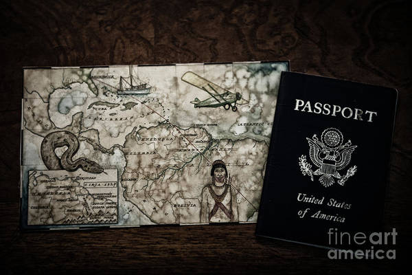 Photograph - United States Of America Passport by Dale Powell