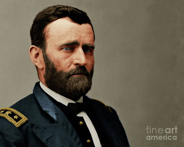 Photograph - United States Of America President General Ulysses S Grant 20170521 Painterly Style by Wingsdomain Art and Photography