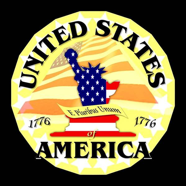 Mixed Media - United States Of America Design by Peter Potter
