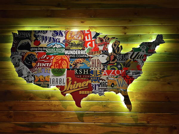 Red Robin Restaurant Art Fine Art America - Us-beer-map-red-robin