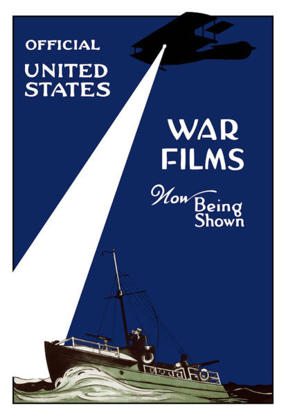 Film Painting - United States War Films Now Being Shown by War Is Hell Store
