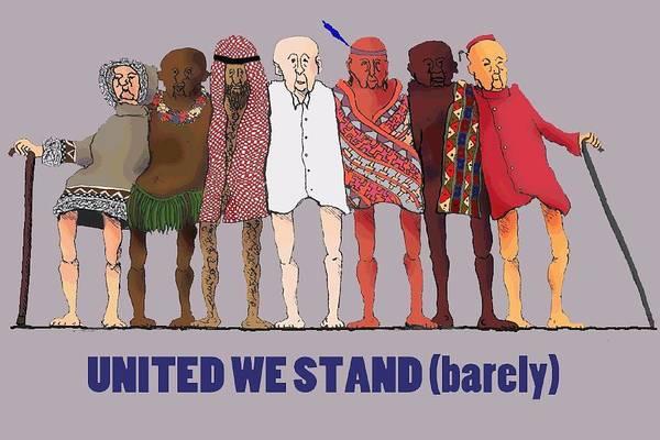 Digital Art - United We Stand Transparent Background by R  Allen Swezey