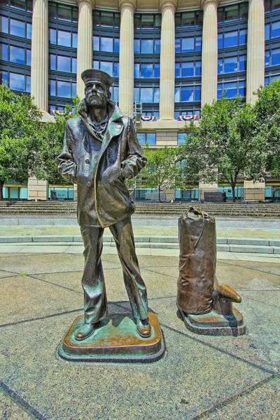 Service Dog Photograph - United States Navy Memorial - The Lone Sailor by Allen Beatty