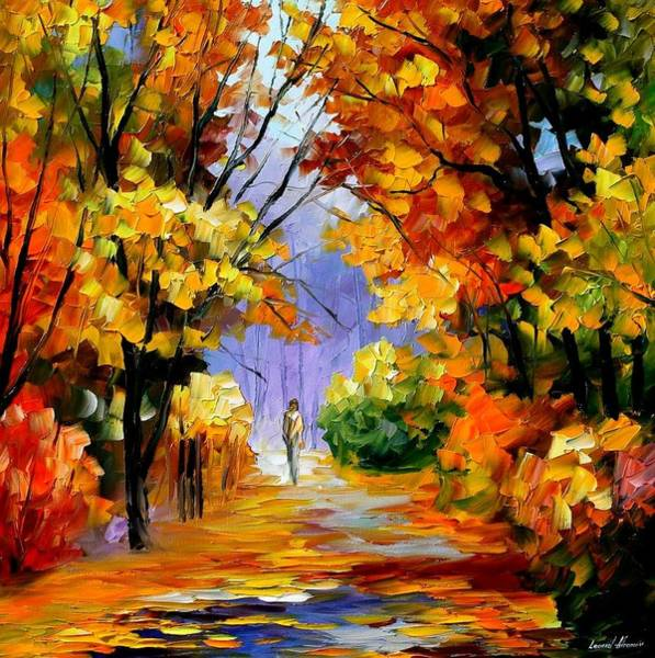 Fall Painting - Unity With Nature by Leonid Afremov