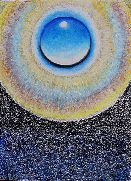 Pastel - Universal Eye In Blue by Norma Duch