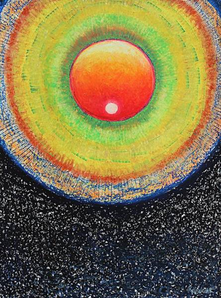 Pastel - Universal Eye In Red by Norma Duch