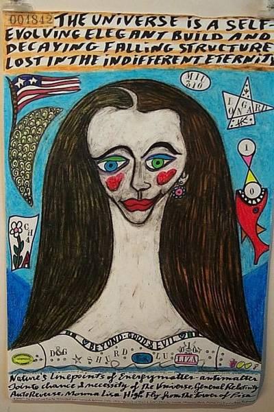 Wall Art - Painting - Universal Look Monna Lisa by Francesco Martin