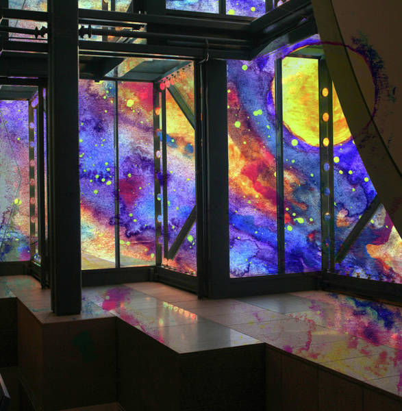 Space Exploration Mixed Media - Universe Through The Window by R Kyllo
