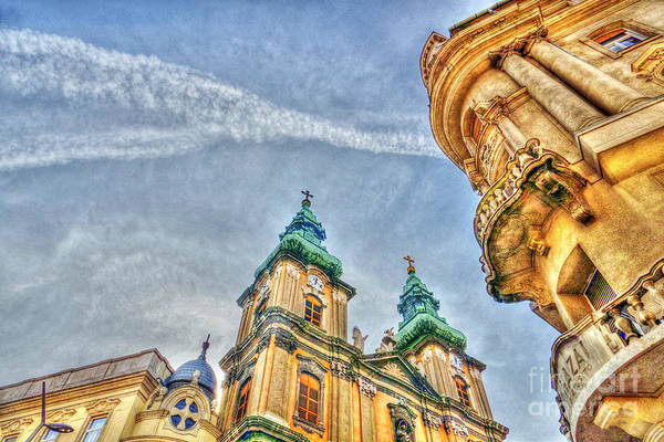 Photograph - University Church In Budapest by Odon Czintos
