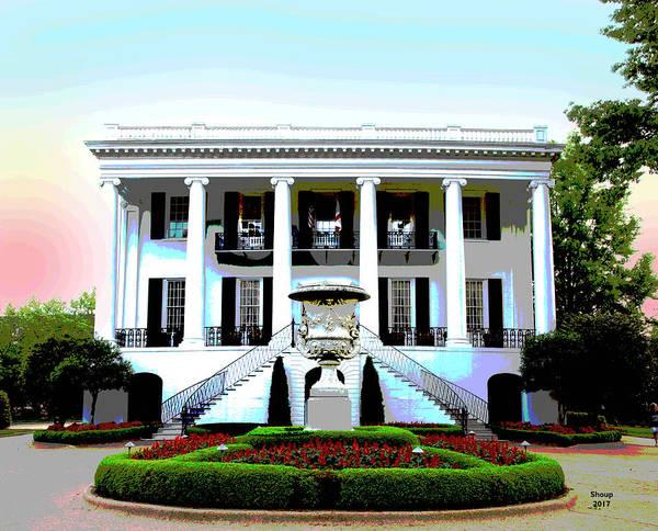 Mansion Mixed Media - University Of Alabama by Charles Shoup
