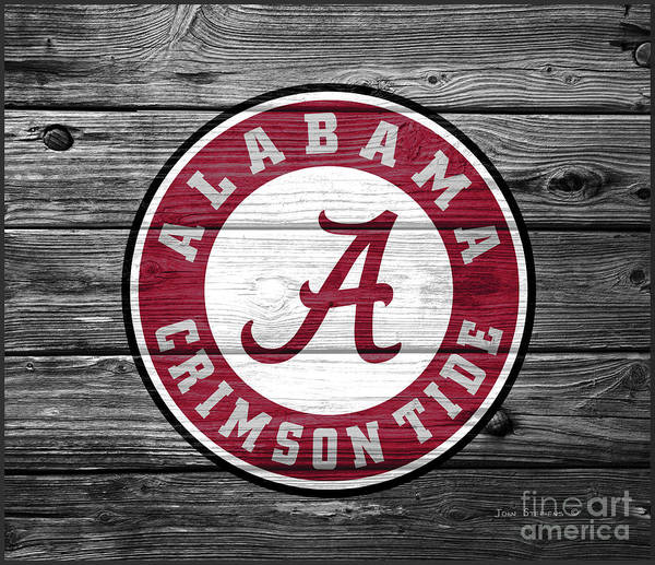 Wall Art - Photograph - University Of Alabama Logo On Weathered Wood by John Stephens