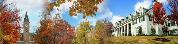 Photograph - University Of Arkansas Autumn Panorama - Fayetteville by Gregory Ballos