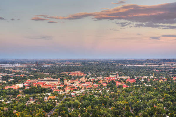 Photograph - University Of Boulder Colorado At Sunset by Toby McGuire