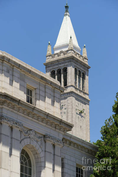 Photograph - University Of California Berkeley Historic Ide Wheeler Hall And The Campanile Dsc4068 by Wingsdomain Art and Photography