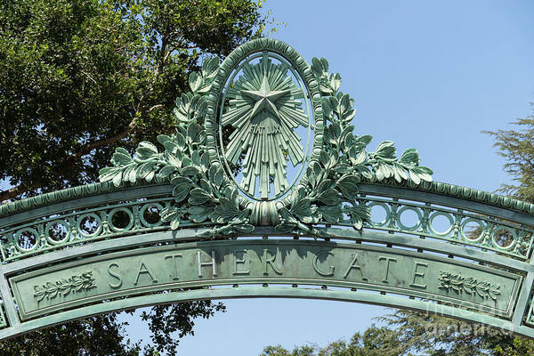 Photograph - University Of California Berkeley Historic Sather Gate Dsc4073 by Wingsdomain Art and Photography