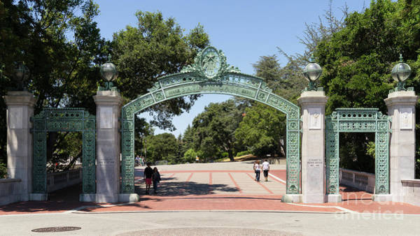 Photograph - University Of California Berkeley Historic Sather Gate Dsc4076 by Wingsdomain Art and Photography