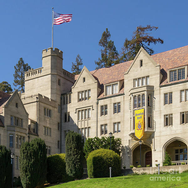 Photograph - University Of California Berkeley Historical Bowles Hall College Dormatory Dsc4759sq by Wingsdomain Art and Photography