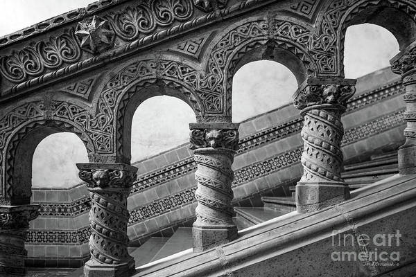 Photograph - University Of California Los Angeles Powell Library Stairway by University Icons