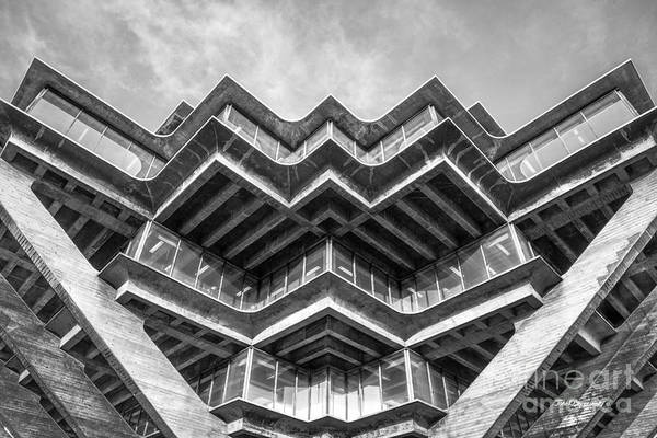 Photograph - University Of California San Diego Geisel Library Abstract by University Icons