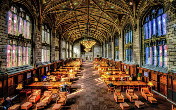 Painting - University Of Chicago Harper Library by Christopher Arndt