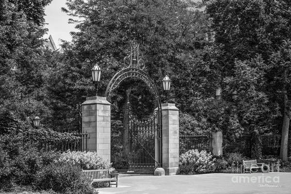 Neighborhood Photograph - University Of Chicago Hull Court Gate by University Icons